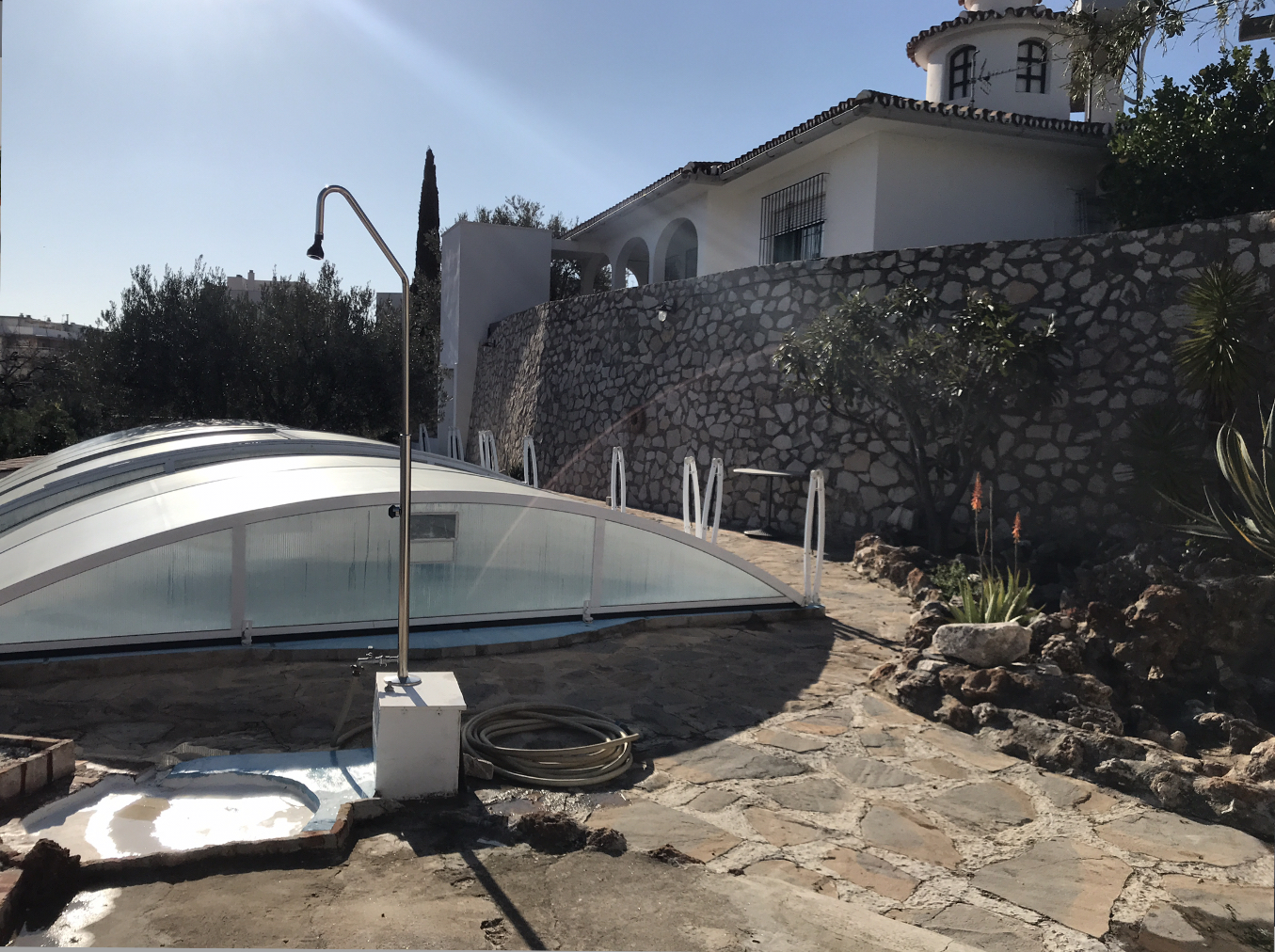 Goed onderhouden villa met zeezicht in Benalmádena